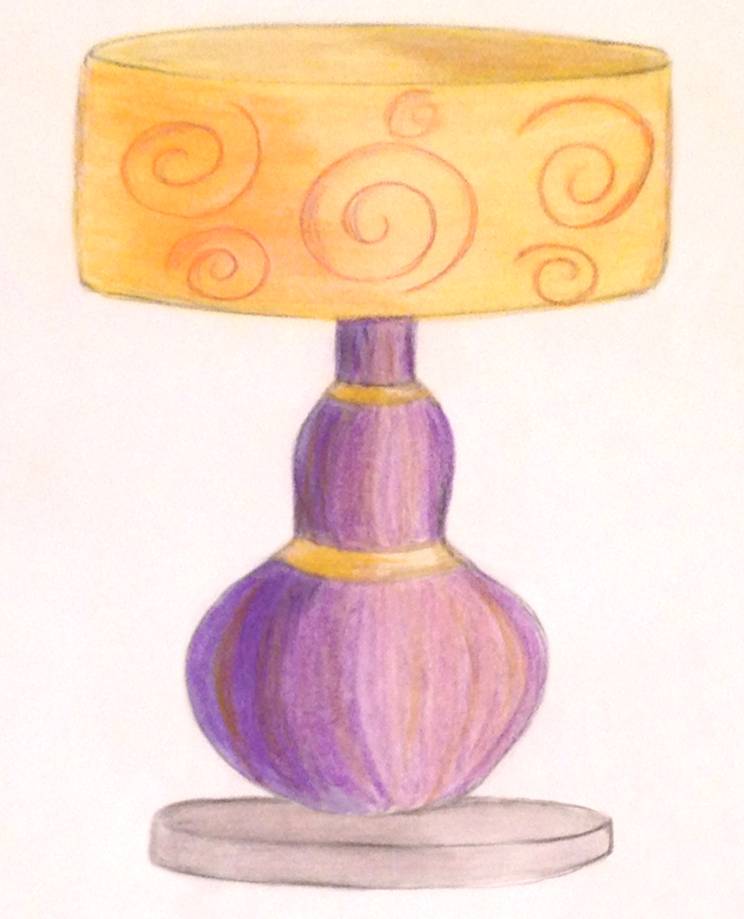 Table lamp for drawing - Table Lamp Product Concept Drawings